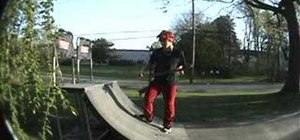 Tail stall on a skateboard