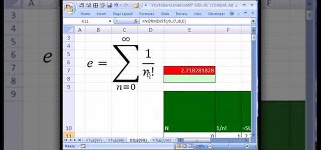 How To Use The Number E In A Microsoft Excel Spreadsheet Microsoft