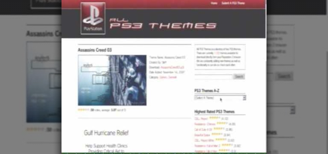 How to Download and install wallpapers and themes on a PS3 « PlayStation 3 :: WonderHowTo