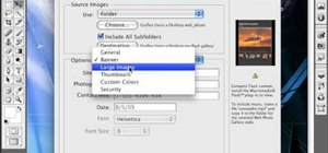 Create a web photo gallery with Photoshop