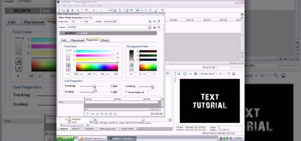 Generated text not displaying - VEGAS CREATIVE SOFTWARE