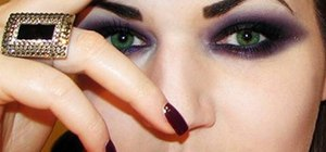 Create a dark gothic makeup look
