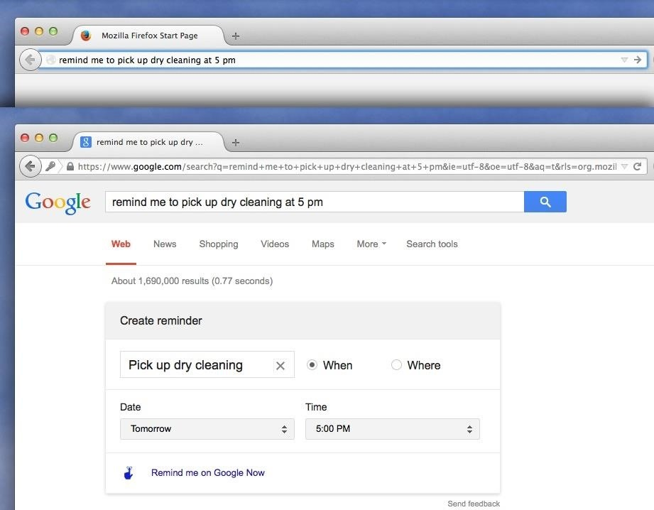 How to Create Google Now Reminders Straight from Google Search on Your Computer