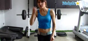 Do a standing outer hip stretch exercise