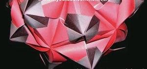 Fold a 3D origami kusudama meteoroid