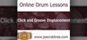 Play offbeat sixteenth notes on drums