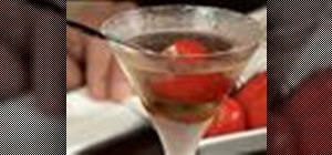 Make a Balsamic Vinegar martini