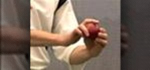Grip the ball to bowl fast