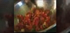 Make quick tomato sauce