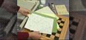 Make a decoupage chessboard tabletop