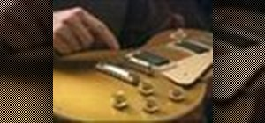 Set up a Gibson Les Paul guitar