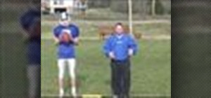 Play quarterback in youth football