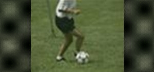 Do the Behind The Leg/Stepover combination soccer move