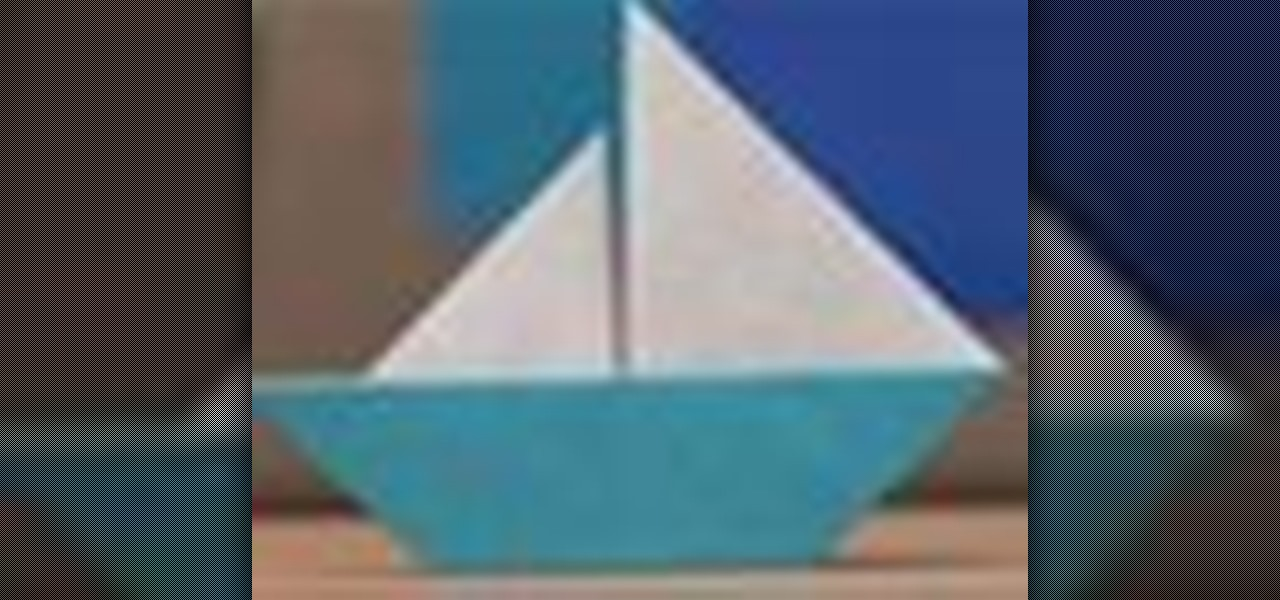 how to origami an easy sailboat 171 origami wonderhowto