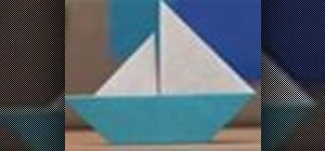 Origami an easy sailboat