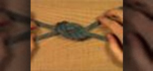 Tie a retraced figure eight knot