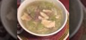 Make Chinese chicken and ham soup