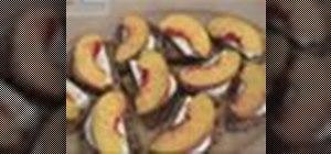 Make peach and mozzarella bruschetta