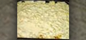 Cook macaroni and bechamel sauce