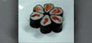 Make a sake maki or salmon roll