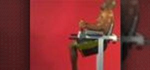Exercise with the Roman chair bent knee leg raise