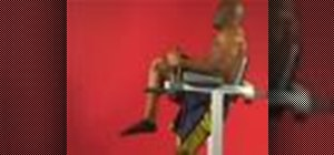 Exercise with the reciprocal Roman chair bent knee leg