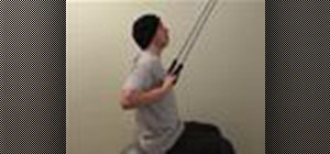 Do a lat pulldown with resistance back exercise