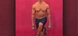 Exercise with the dumbbell crossover lunge