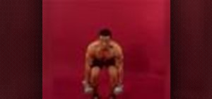 Exercise with the dumbbell clean and press