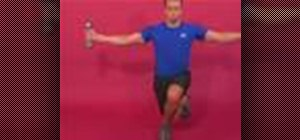 Do the backward dumbbell crossover lunge