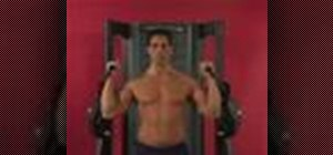 Exercise w/ cable shoulder press w/ wide neutral grip