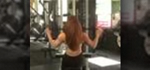 Exercise w/ incline cable lat pulldown with wide grip