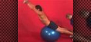 Exercise with the back extension on ball w/dumbbell