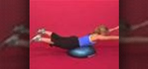 Exercise with the superman on bosu