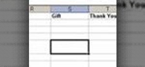Organize a wedding guest list spreadsheet