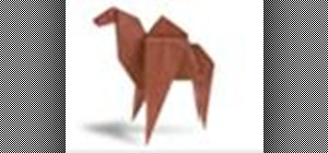 Origami a camel Japanese style