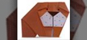 Origami a bulldog Japanese style
