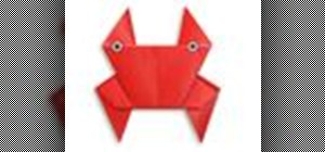 Origami a red crab Japanese style