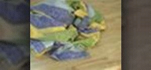 Fold a rectangular tablecloth