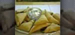 Make curry phyllo triangles