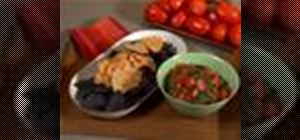 Make fresh Mexican salsa dip