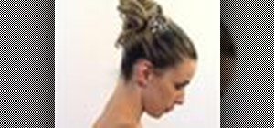 Turn a simple ponytail into an evening updo hairstyle
