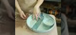 Make a clay chip and dip dish