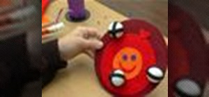 Make a velcro-ball dartboard for kids