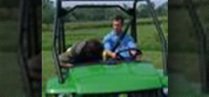 Use a John Deere Gator XUV or HPX utility vehicle