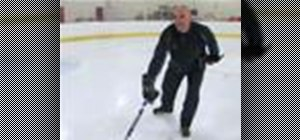 Forward stride on ice skates
