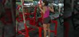 Do the good morning exercise with a barbell