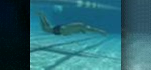Do the butteryfly stroke when swimming