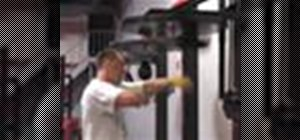 Hit a speed bag for boxing