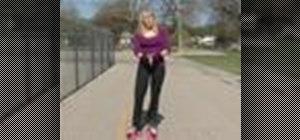 Stop on roller skates
